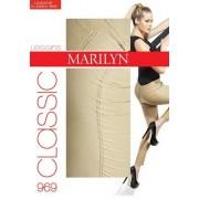 Långa leggings i bomull Classic från Marilyn, 100 DEN dark pink S/M
