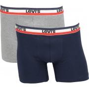 Levi's Boxershorts 2-Pack Grau Blau - Grau XL
