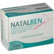 Italfarmaco Natalben Together Food Supplement Made From Folic Acid 60 Capsules
