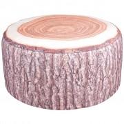 Esschert Design Pufe inflável para exterior com design tronco de árvore