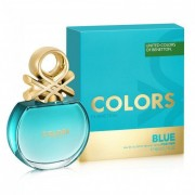 Benetton colors de benetton blue 80 ml eau de toilette edt spray profumo donna