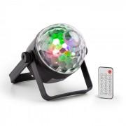 PLS35 DJ Jellyball 4 x LED da 3W rossi, verdi, blu e UV DMX/Standalone