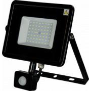 Proiector cu senzor de miscare SMD Slim LED 50W 4250lm 6500K lumina rece negru Novelite 42020