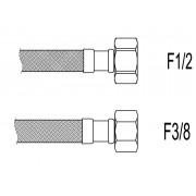"Racord flexibil apa i-i, F1/2""x F3/8"", 80 cm Techman PWS86"