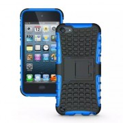 Shockproof blauw iPod Touch 5 6 hoesje standaard case cover