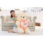 Peach 3.5 Feet Love Heart Teddy Bear
