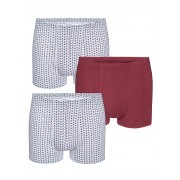 Babista herenmode Boxershorts BABISTA 1x bordeaux, 2x wit/bordeaux - Man - 6