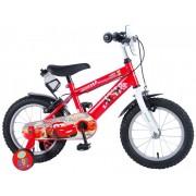 """Bicicleta pentru baieti ajustabila din otel cu roti ajutatoare 14"""" EandL CYCLES Cars"""