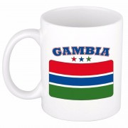 Bellatio Decorations Mok / beker Gambiaanse vlag 300 ml