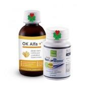 OK Alfa+ 115 ml. OKG Factor Base 60 tbl. ( imunita, střeva, plíce )