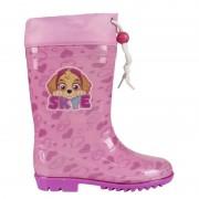 Paw Patrol Roze Paw Patrol regenlaarzen met koord voor meisjes 24-25 - Regenlaarzen