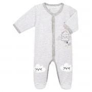 Petit Béguin Pyjama bébé mixte velours With Love - Taille - 3 mois