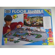 """Lego Race Track 50 Piece Double-Sided Floor Puzzle 24"""" X 36"""""""