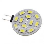 2W G4 LED-spotlampen 12 SMD 5730 180-210 lm Warm wit Koel wit 3500/6000 K DC 12 V