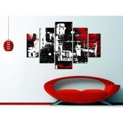 Tablou decorativ multicanvas Miracle, 5 Piese, Abstract, 236MIR1950, Multicolor