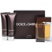 Dolce & Gabbana The One for Men подаръчен комплект V. тоалетна вода 100 ml + балсам след бръснене 50 ml + душ гел 50 ml