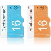 ER 16GB TF Tarjeta De Memoria Secure Digital Adaptador De Flash De La Cámara Y Teléfono -Naranja