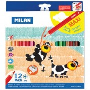 Creioane colorate Milan Maxi 12 culori