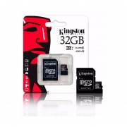 Memoria Micro SD Kingston 32GB SDC10 Con Adaptador SD-Negro