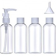 DIY Crafts Travel Bottles Set with Storage (80 ml) with 1 Funnel & 1 Mist Spray(Pack of 5)