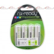 Accus Nimh blister lot de 4 AA NX READY 1.2V 2000mAh