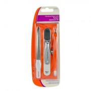 Sally Hansen Perfect Manicure sada pilník + klipr + zastřihovač nehtové kůžičky + pěnový pilník pro vyhlazení a leštění + pouzdro pro ženy