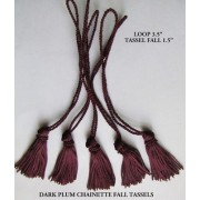Mini Chainette Tassels Bridal Decorations, Cards, Bookmarks, Sewing - Purple / Dark Plum