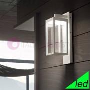 Gea Luce Srl Montreal Lanterna A Parete Da Esterno Moderna A Led Ip54