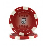 Jeton Poker Chip 11.5g - Culoare Rosu - inscriptionat (5)