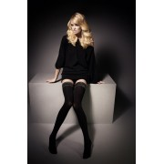 Veneziana Ar Julie - 60 denier opaque hold ups with elegant gloss lace top