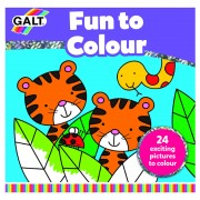 Carte de colorat Galt Fun to Colour, 24 de imagini, dezvolta imaginatia