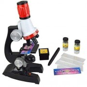 Babytintin Educational Toy Real Working Science Microscope Refined Scientific Instruments with Light Science Lab Magnifier for Children - Multi Color