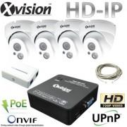 IP Kamerový systém 4x HD IP kamera + NVR