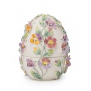 LAMART porculanska kutijica u obliku uskršnjeg jajeta s uzorcima cvijeća