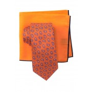 Ted Baker London Tossed Pine Neat Tie Set ORANGE