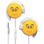 Start Auricolare A Filo Stereo Smile-09 Headphones Jack 3,5mm Universale Per Musica Yellow Per Modelli A Marchio Sony Ericsson