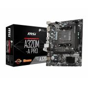MB MSI A320M-A PRO, AM4, micro ATX, 2x DDR4, AMD A320, DVI-D, HDMI, 36mj (7C51-001R)
