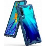 Husa Huawei P30 Ringke FUSION X Transparent Albastru