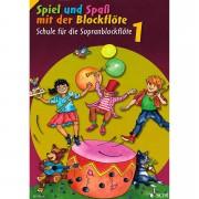 Schott Spiel und Spaß mit der Blockflöte Schule Bd.1 Lehrbuch