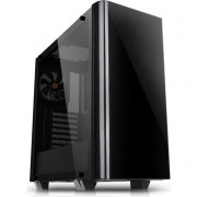 Carcasa Thermaltake View 21 Tempered Glass Edition, fara sursa, Negru