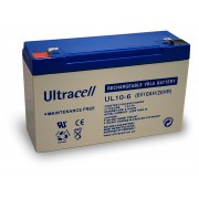 Batteria al Piombo AGM Professionale UL10-6 Ultracell UK 6V DC 10.0AH 10AH