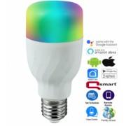 Set 3x Bec inteligent Qsmart 7W RGBWW E27 850lm Alexa/ Google/ iOS/ Android Dimabil Programabil Wifi LED 2700-6500K