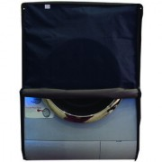 Glassiano Navy Blue Waterproof Dustproof Washing Machine Cover For Front Load Haier HW60-1279 6 Kg Washing Machine
