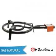 Paellero de Gas Natural Garcima 40 cm / 2 fuegos