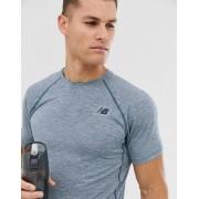 New Balance running tenacity t-shirt in navy