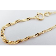 Silný mohutný zlatý řetízek TWIST 45cm 585/1,51gr H095