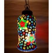 Susajjit Beautiful Mosaic work Glass Lamps Decorative Artistic Design Ceiling Lamp Classy Chandeliers for Festive Decoration