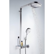 Set de dus Hansgrohe gama Raindance Select E 300, 3 functii ST Showerpipe, chrome