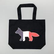 MAISON KITSUNÉ Tricolor Tote Fox Bag Navy
