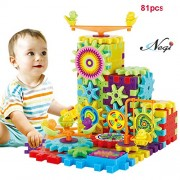 Negi Battery Operated 81 Piece Magical Building Blocks 3D Magic Play Stacking Set DIY for Brain Development Educational Toys for Kids (81 Pieces Magical Blocks)